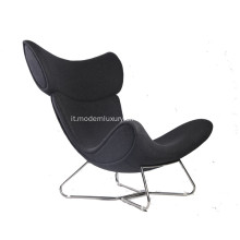 Imola Wingback Leather Lounge Chair